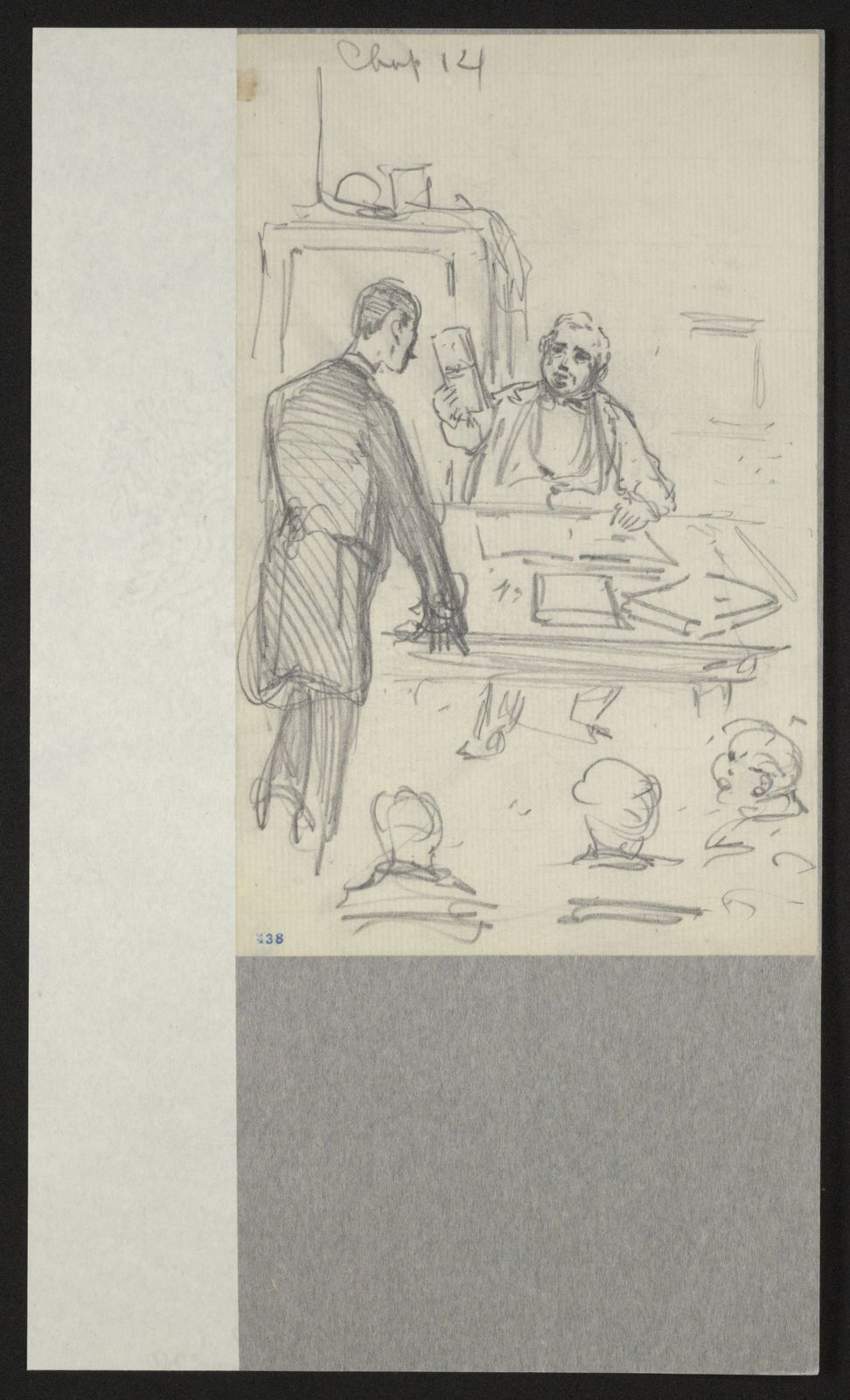 Charles Wellington Reed Papers: Sketchbooks, 1863-1887, undated; Unnumbered, leaves 416-650