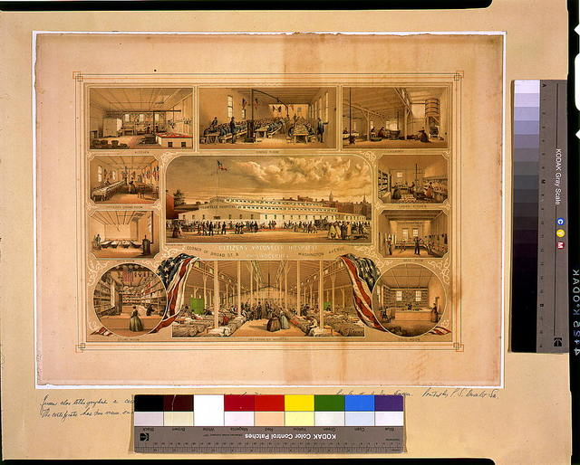 Citizens Volunteer Hospital corner of Broad St. & Washington Avenue, Philadelphia / des. & lith. by J. Queen.