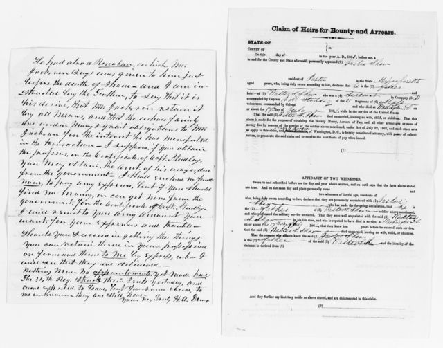 Clara Barton Papers: Miscellany, 1856-1957; Financial and legal papers; Correspondence, 1862-1905