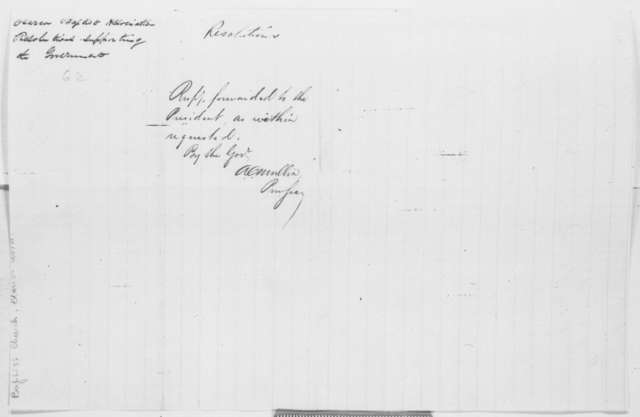 Clarion Association of Baptist Churches to A. G. Curtin, Saturday, August 23, 1862  (Resolutions; endorsed by A. C. Mullin)