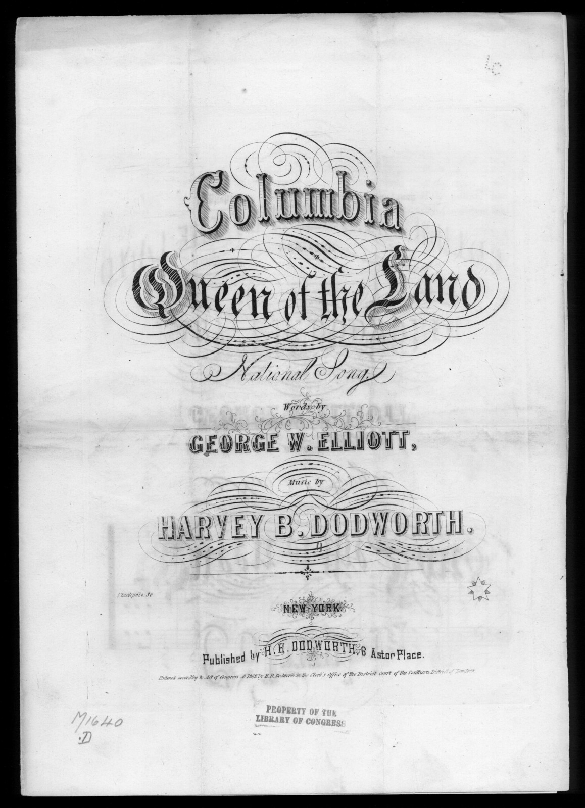 Columbia, queen of the land