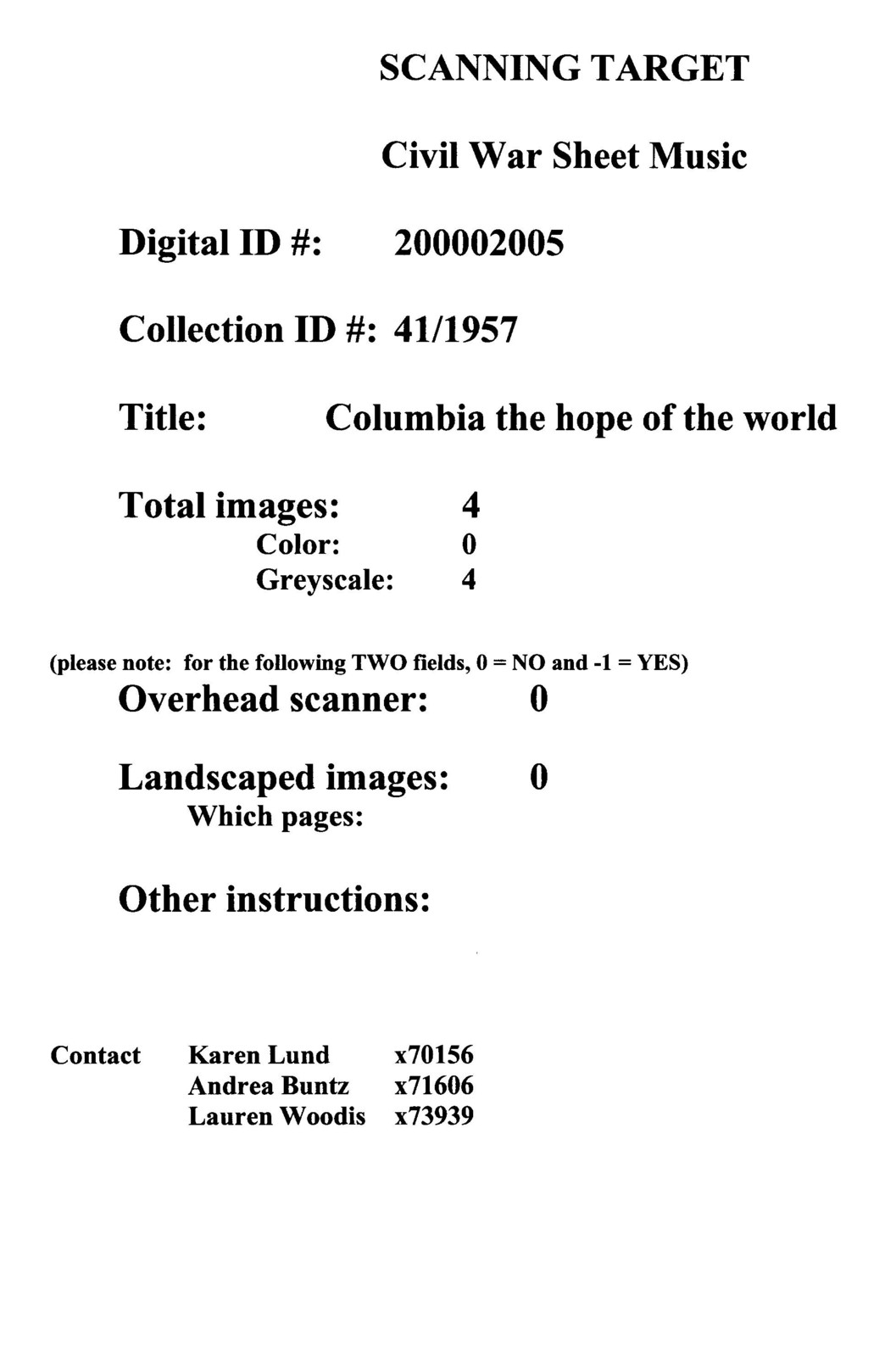 Columbia the hope of the world