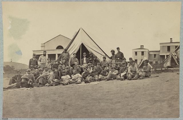 Company A, 22d New York State Militia near Harpers Ferry, Va., 1861 [i.e.1862]