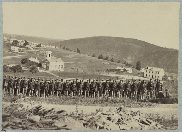 Company A, 22d New York State Militia near Harpers Ferry, Va. (i.e. West Virginia), 1861 [i.e.1862]