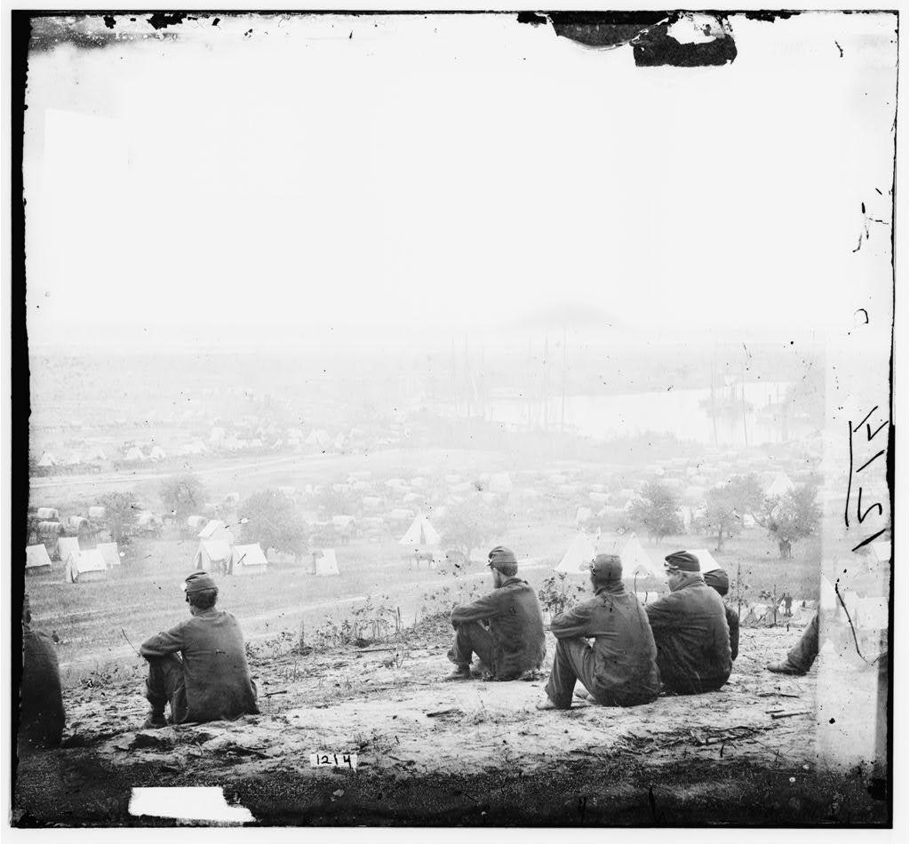Cumberland Landing, Virginia. Federal encampment on the Pamunkey River