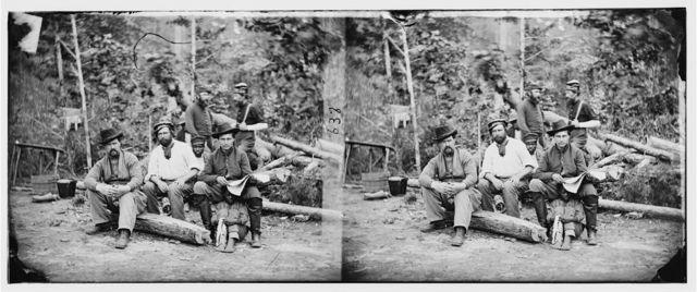 Cumberland Landing, Virginia. Group at Mr. Foller's farm