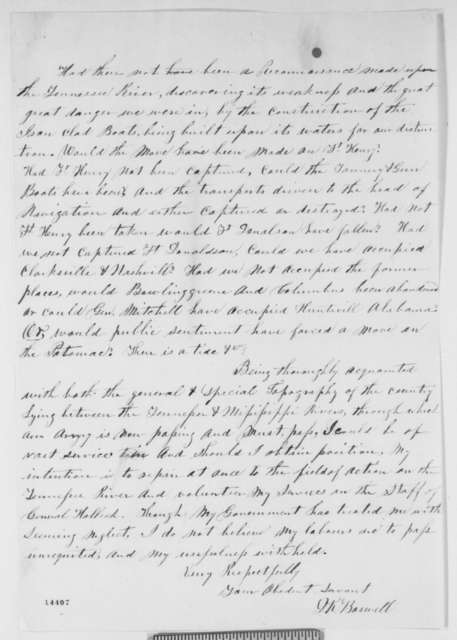 D. K. Boswell to Aaron Harding, et al., Thursday, February 06, 1862  (Mississippi Union supporter)