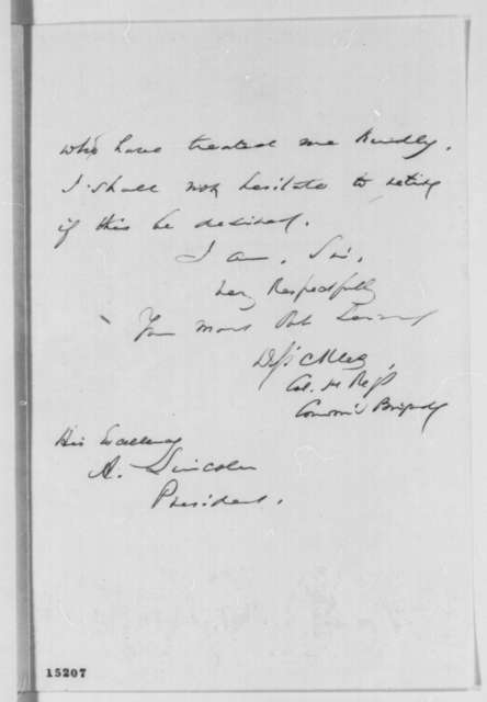 Daniel E. Sickles to Abraham Lincoln, Monday, March 24, 1862  (Introduction)