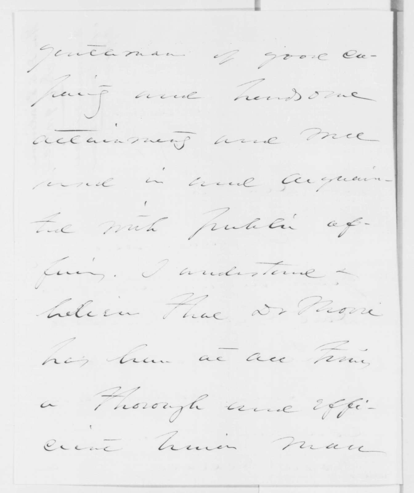 Daniel S. Dickinson to Abraham Lincoln, Wednesday, July 09, 1862  (Recommendation)