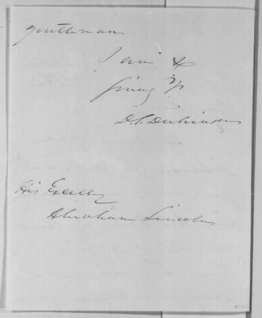 Daniel S. Dickinson to Abraham Lincoln, Wednesday, March 26, 1862  (Introduction)