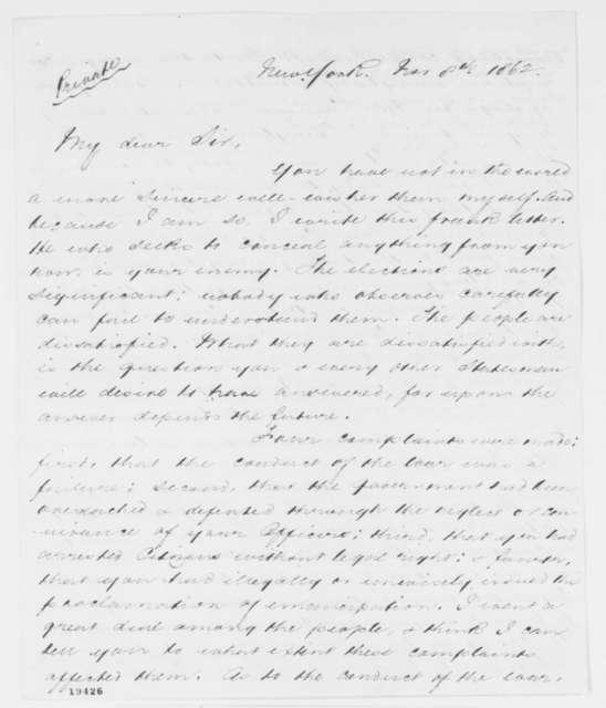 David D. Field to Abraham Lincoln, Saturday, November 08, 1862  (Election results)
