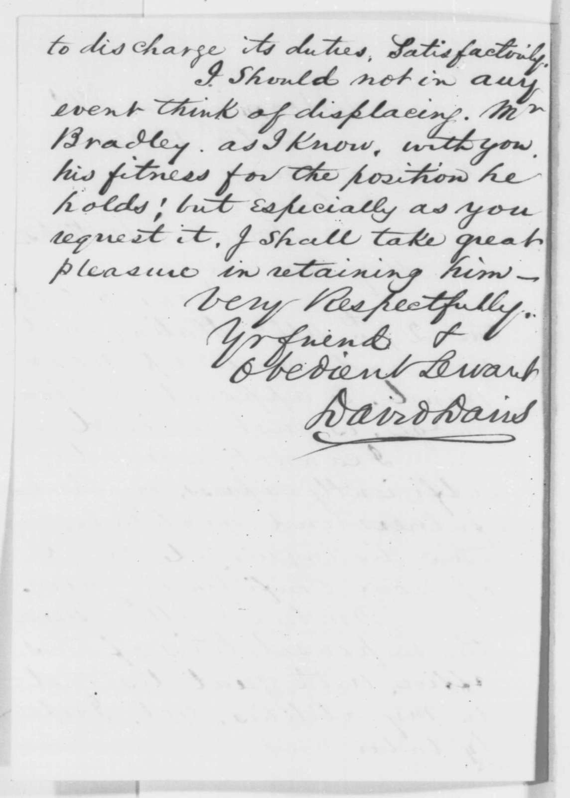 David Davis to Abraham Lincoln, Monday, September 01, 1862  (Appointment to Supreme Court)