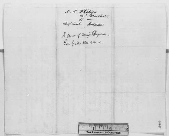 David L. Phillips to Henry W. Halleck, Wednesday, March 19, 1862  (Mason Brayman)