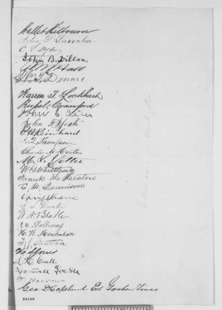 David P. Holloway, et al. to Abraham Lincoln, Saturday, December 13, 1862  (Petition recommending cabinet appointment)