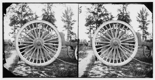 Dutch Gap Canal, Virginia. (Drewry's Bluff, James River) A giant sling-cart to carry siege guns
