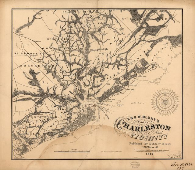 E. & G. W. Blunt's map of Charleston and vicinity.