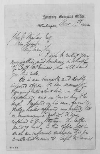 Edward C. Stedman to John G. Nicolay, Saturday, November 01, 1862  (Introduction)