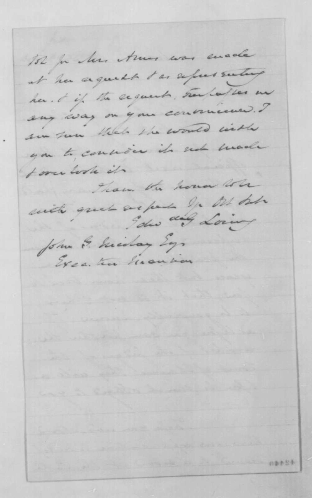 Edward G. Loring to John G. Nicolay, December 30 [1862]  (Meeting with Court of Claims)