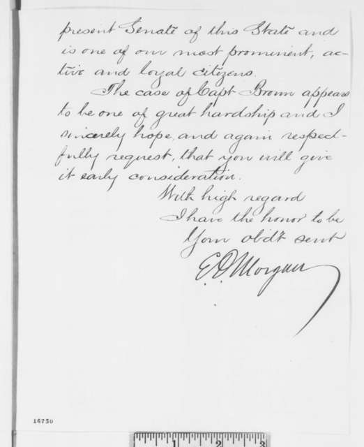 Edwin D. Morgan to Abraham Lincoln, Wednesday, July 02, 1862  (Cover letter)