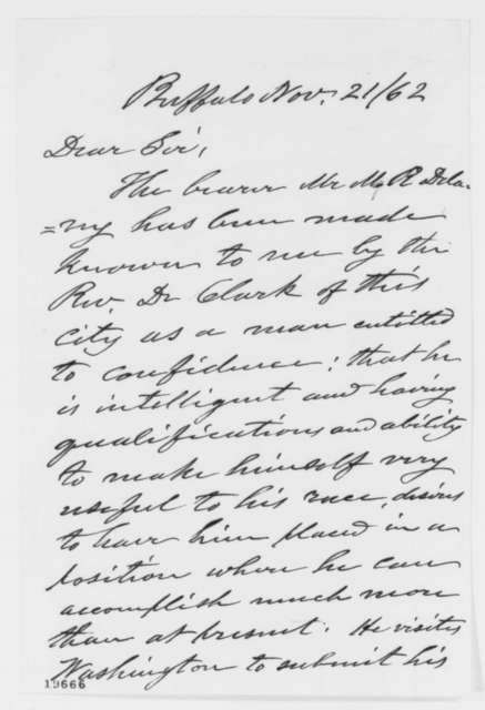 Elbridge G. Spaudling to Abraham Lincoln, Friday, November 21, 1862  (Introduction)