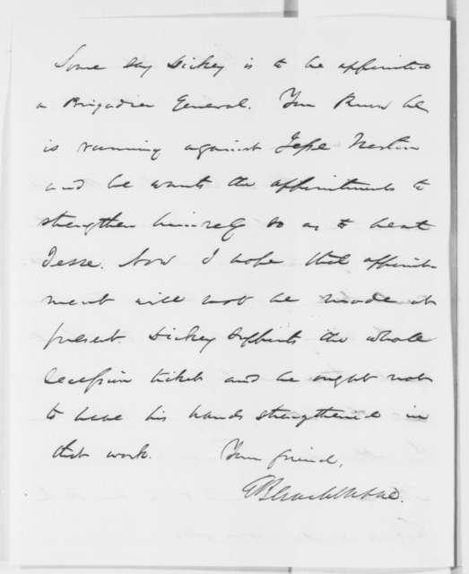 Elihu B. Washburne to Abraham Lincoln, Saturday, October 11, 1862  (Political and military affairs)