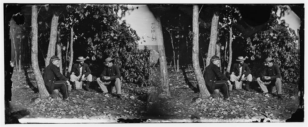 Elk Mountain, Maryland. Lts. Edward C. Pearce, John C. Babcock and Rockwell (center)