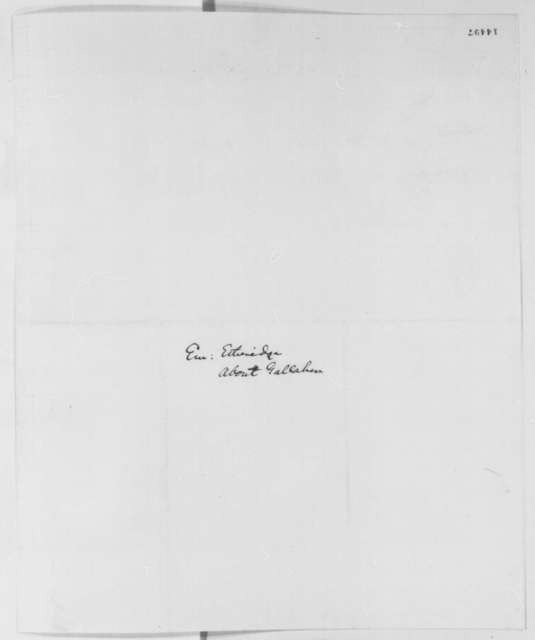 Emerson Etheridge to Abraham Lincoln, Thursday, February 13, 1862  (Introduction)