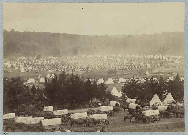 Encampment of Army of Potomac at Cumberland Landing on Pamunky (i. e. Pamunkey) River, Va., May 1862