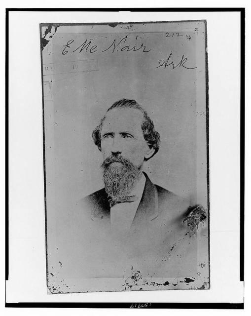 [Evander McNair, of Arkansas, Brigadier General, C.S.A., head-and-shoulders portrait, facing left]