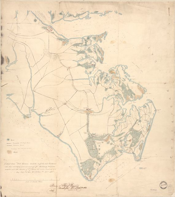 Extract from Fort Monroe, Norfolk, Suffolk, and Yorktown, with their connections and surroundings for military purposes /