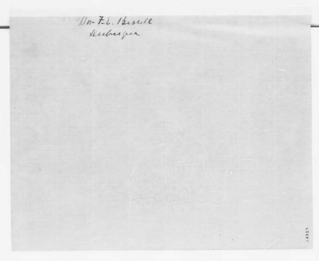 F. E. Bissell to Abraham Lincoln, Saturday, February 01, 1862  (Recommendation)