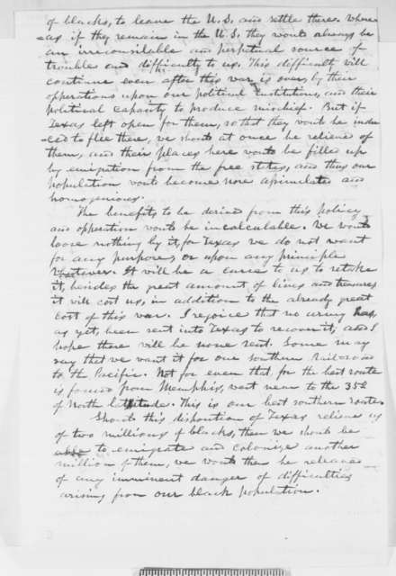 F. W. Powell to Abraham Lincoln, Monday, August 04, 1862  (Political affairs)