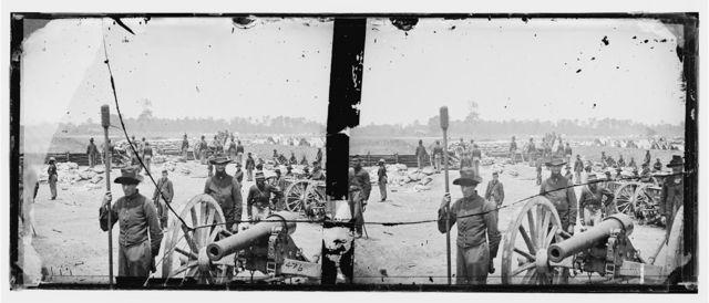 [Fair Oaks, Va., vicinity. Capt. Rufus D. Pettit's Battery B, 1st New York Light Artillery, in Fort Richardson]