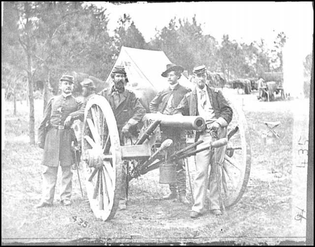 [Fair Oaks, Va., vicinity. Lt. Robert Clarke, Capt. John C. Tidball, Lt. William N. Dennison, and Capt. Alexander C.M. Pennington]