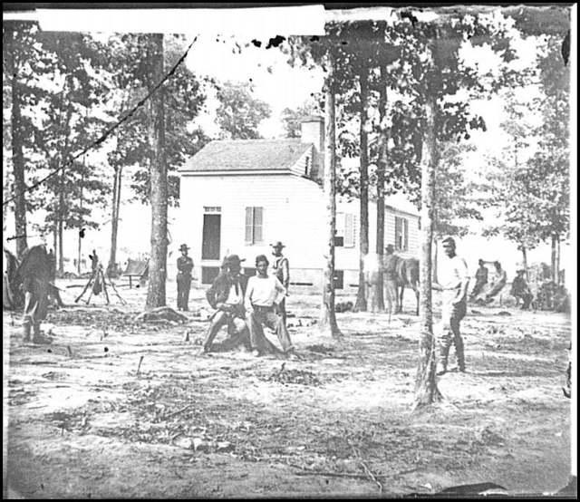 [Fair Oaks, Va., vicinity. Quarles house, where many dead were buried]