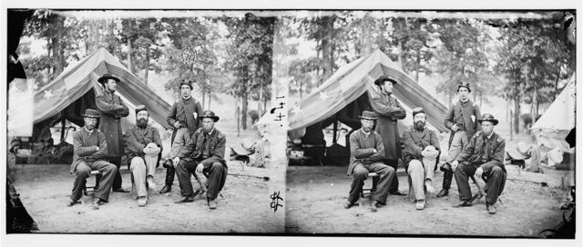 Fair Oaks, Virginia (vicinity). Gen. John C. Caldwell and staff