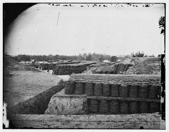 Federal Battery - Yorktown. May 1862