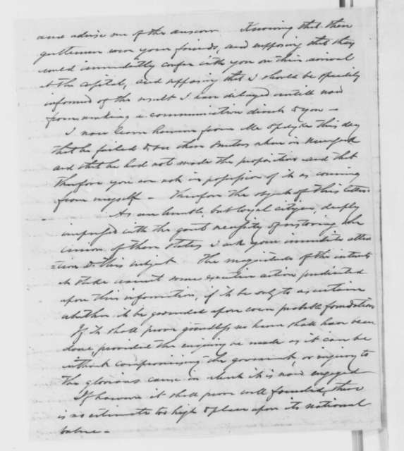Fernando Wood to Abraham Lincoln, Monday, December 08, 1862  (Proposal to end war)