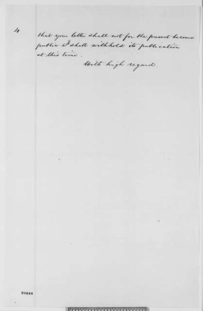Fernando Wood to Abraham Lincoln, Wednesday, December 17, 1862  (Political and military affairs)