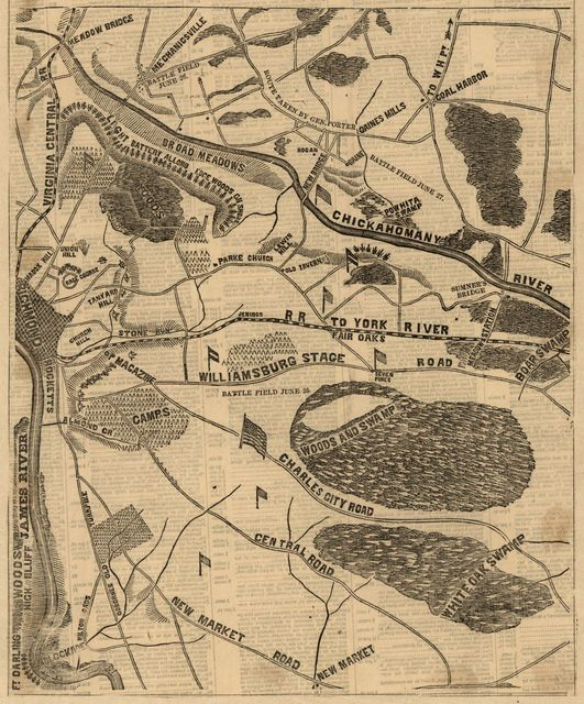Field of McClellan's operations, scene of the recent battles in front of Richmond-and the late important military operations in eastern Virginia /