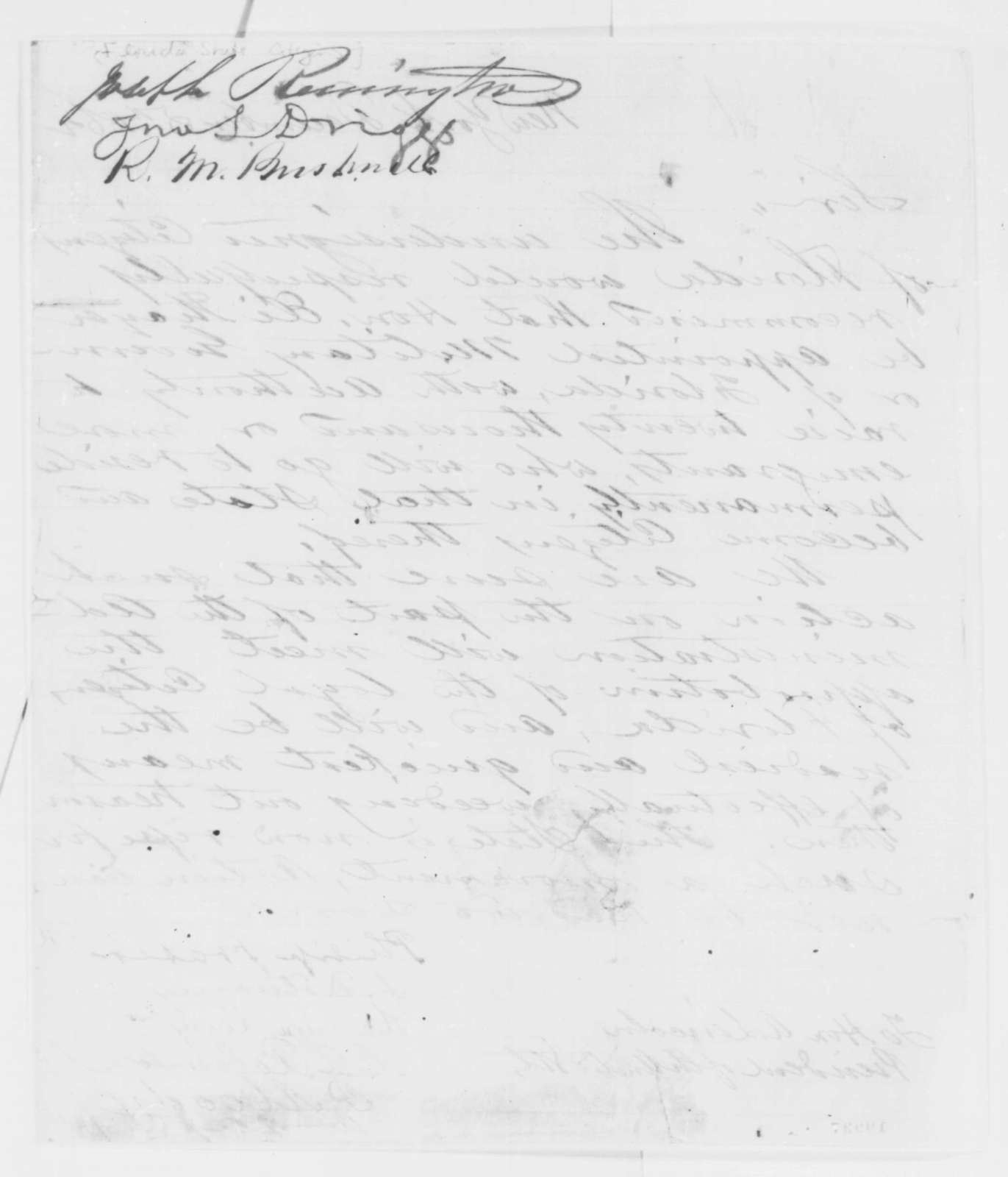 Florida Citizens to Abraham Lincoln, Friday, December 05, 1862  (Petitions recommending appointment of Eli Thayer as governor)