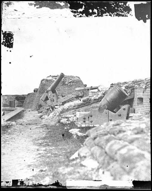 [Fort Pulaski, Ga. Interior view of front parapet]