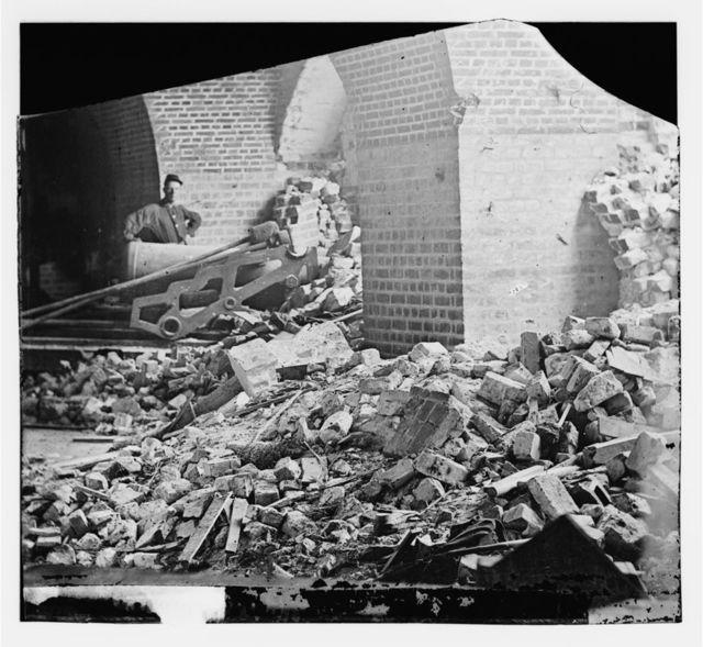 [Fort Pulaski, Ga. Interior view of the breach]