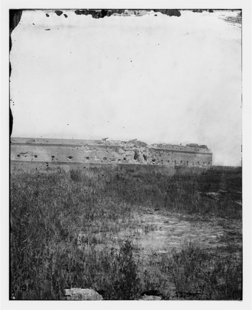 Fort Pulaski, Georgia. Distant view showing the effect of the fire from the assault batteries