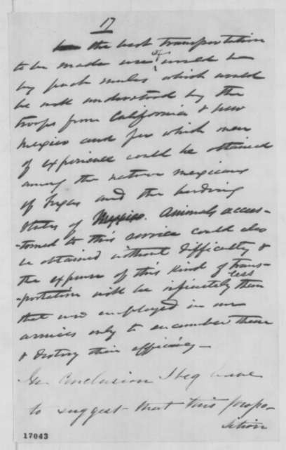Francis P. Blair Jr. to Edwin M. Stanton, Monday, July 14, 1862  (Military occupation of Texas)