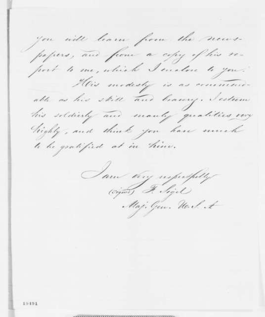 Franz Sigel to John A. Dahlgren, Monday, November 10, 1862  (Exploits of Ulric Dahlgren)