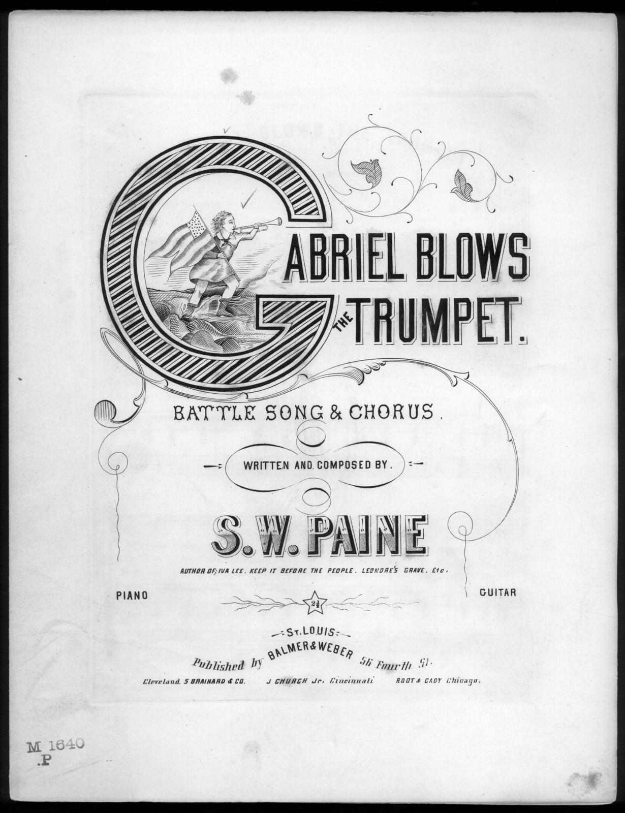 Gabriel blows the trumpet
