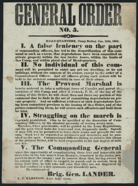 General orders no. 5.