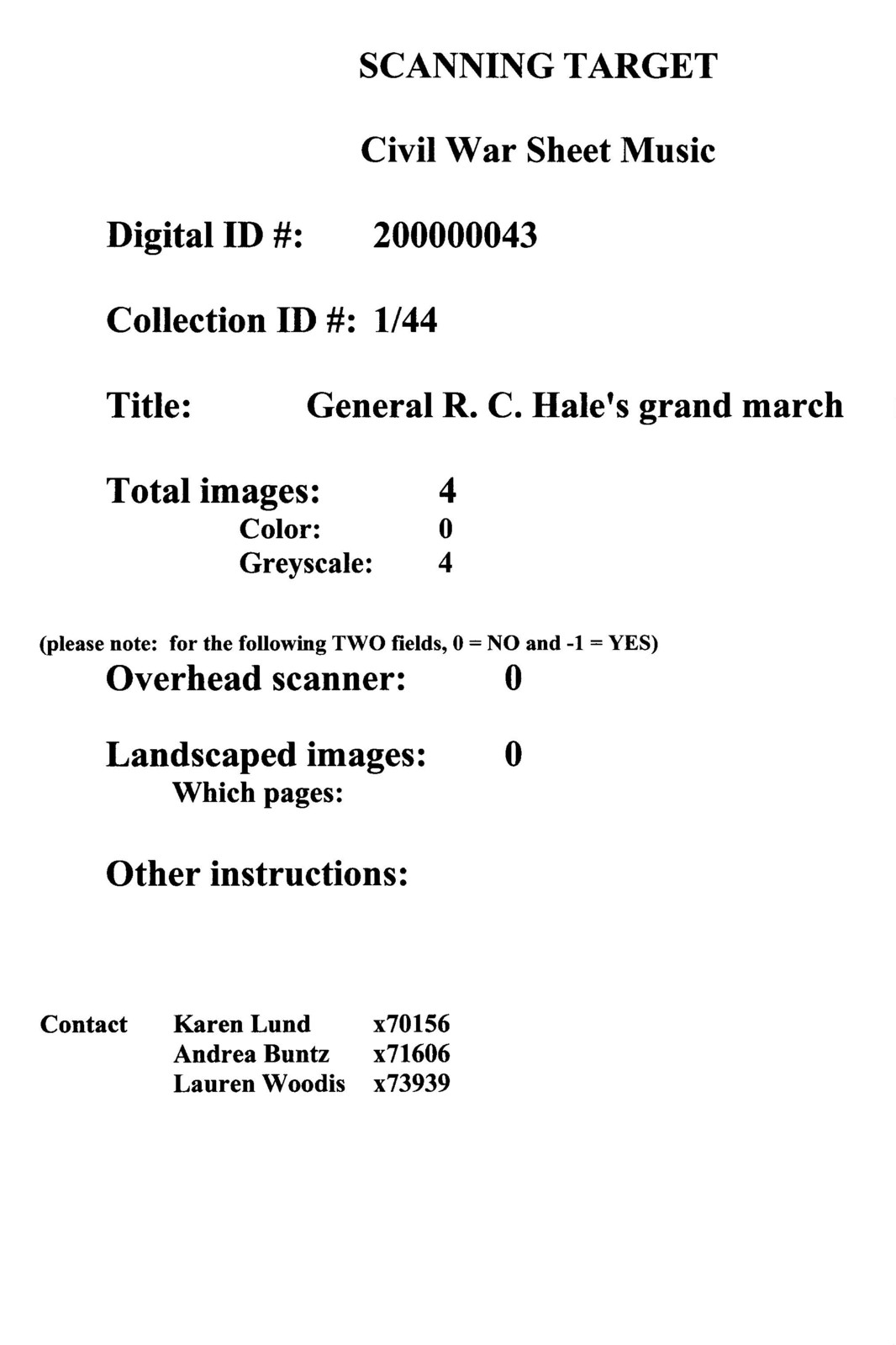 General R. C. Hale's grand march