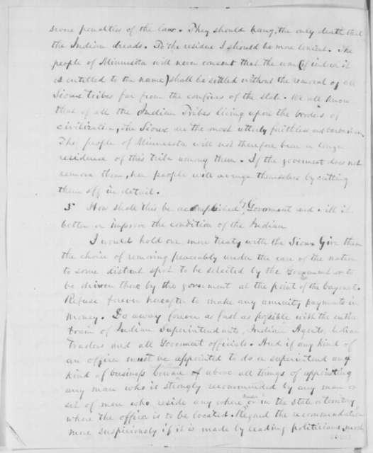 George A. S. Crooker to Abraham Lincoln, Tuesday, October 07, 1862  (Sioux uprising in Minnesota)